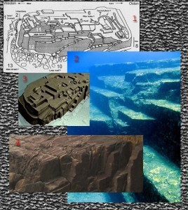 "Composite of the Yonaguni ""ruins"""