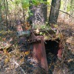 An old farm implement in the Hog Jaw region of LBL. Probably a thresher.
