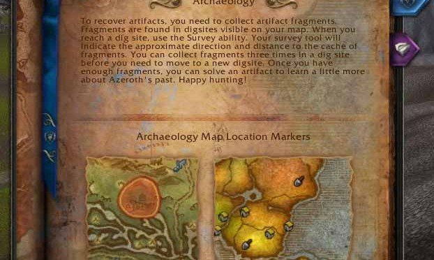 WOW Archaeology: an actual profession in World of Warcraft