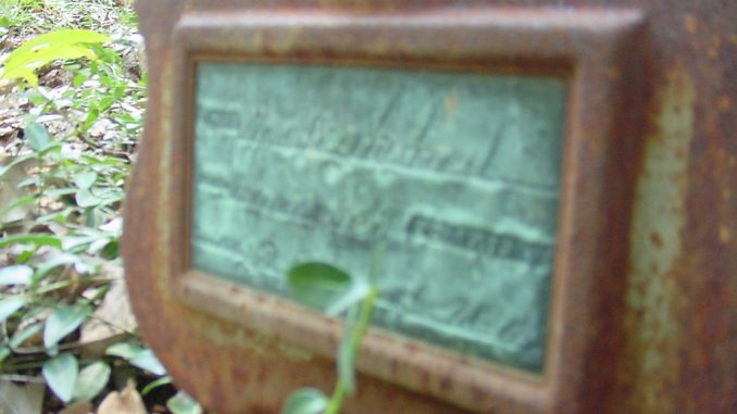 Out of Focus Grave Marker
