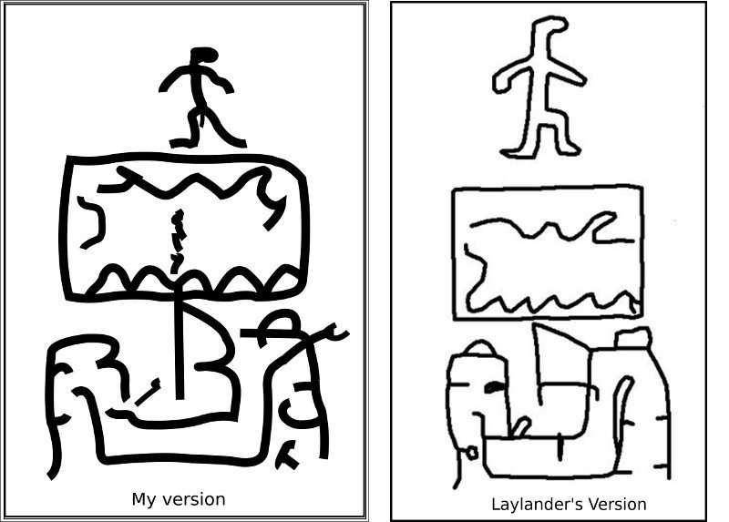 San Fernando Pictographs sketched
